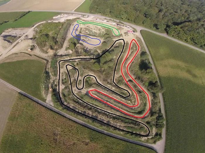 Motocross Strecke Schlatt Streckenplan