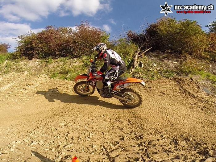 Lean angle training with own Enduro motorcycle