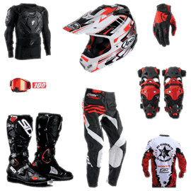 Motocross gear - the gear for a regular training